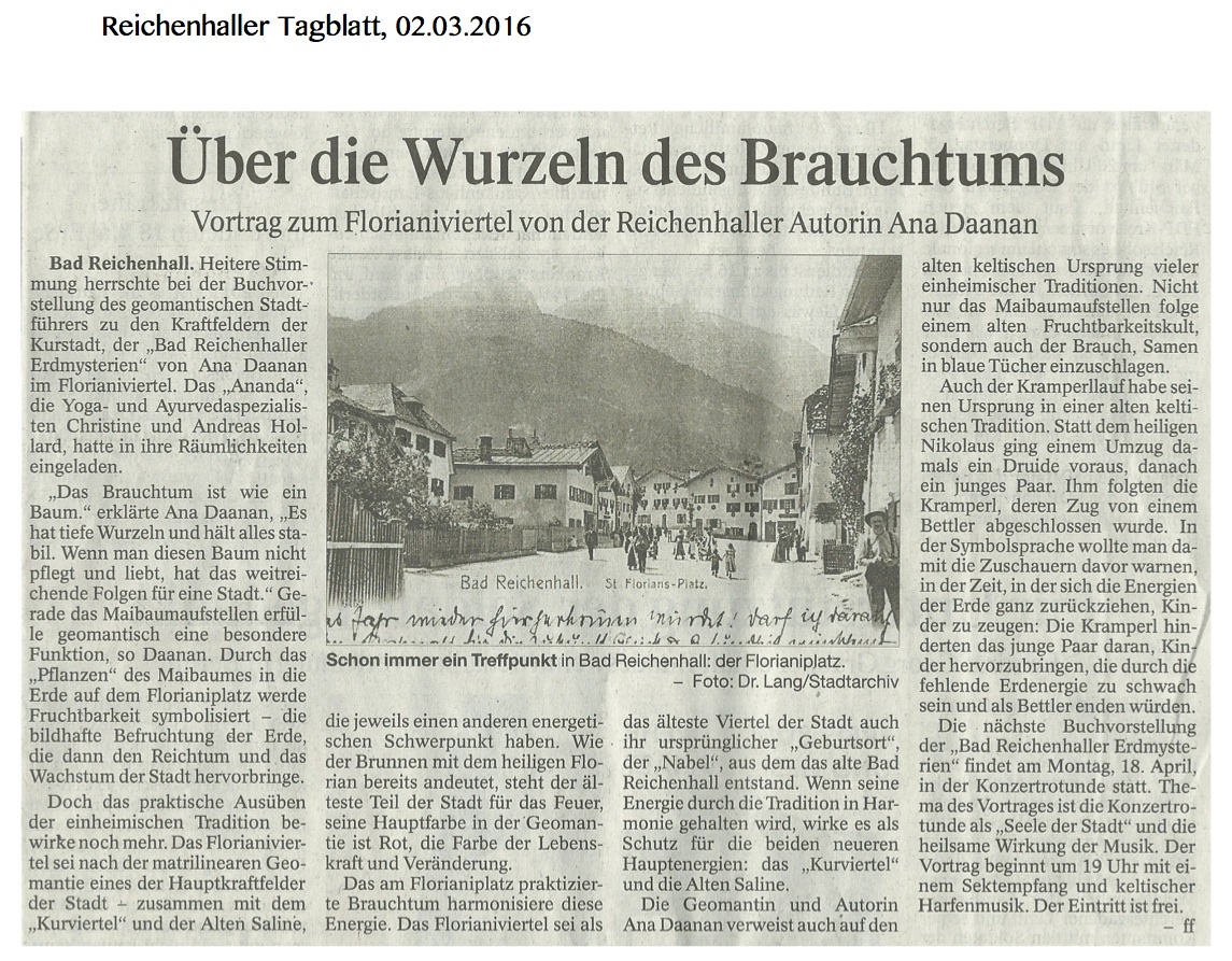 Erdmysterien Nachlese Tagblatt 02.03.16