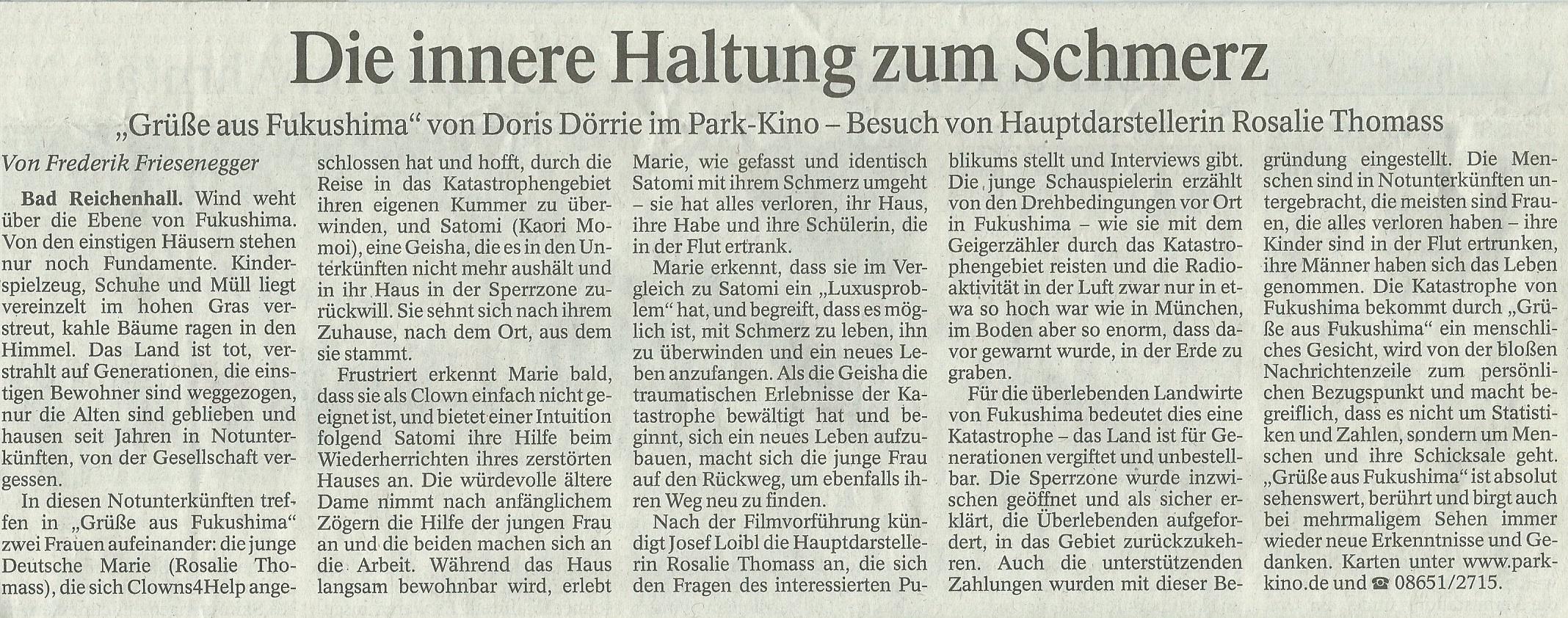Erschienen am 18.03.16 im Reichenhaller Tagblatt