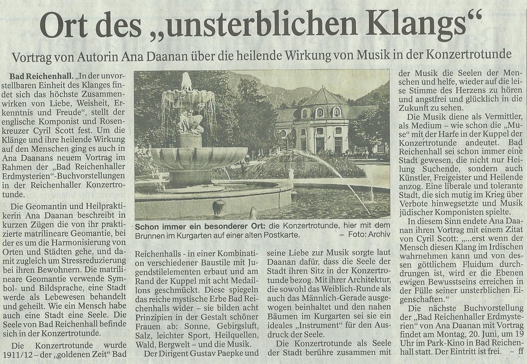 Artikel am 27.04.16 im Reichenhaller Tagblatt