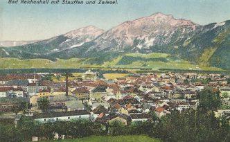 Das alte Bad Reichenhall vor dem Stauffen, dem Ursprung der Heilquelle