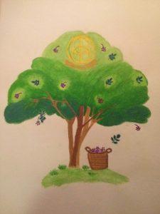 Holunderbaum gemalt